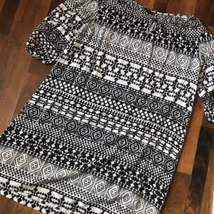 Aztec print Mossimo dress open fit xl